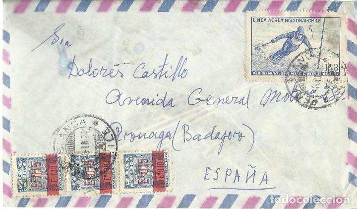 CIRCULADO. CHILE - ESPAÑA. (Sellos - Extranjero - América - Chile)