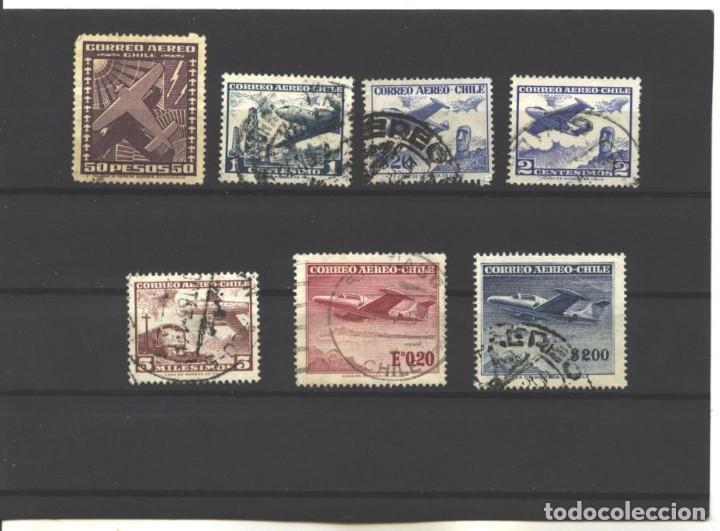 CHILE 1950-67 - 7 SELLOS DIVERSOS - USADOS (Sellos - Extranjero - América - Chile)