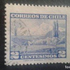 Sellos: CHILE,1961-1962,VOLCAN CHOSHUENCO,YVERT 291,SCOTT 325,USADO,(LOTE AG). Lote 128346463