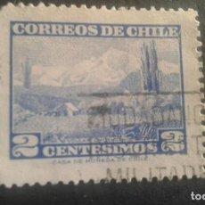 Sellos: CHILE,1961-1962,VOLCAN CHOSHUENCO,YVERT 291,SCOTT 325,USADO,(LOTE AG). Lote 128346555