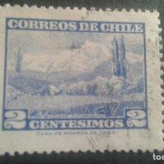 Sellos: CHILE,1961-1962,VOLCAN CHOSHUENCO,YVERT 291,SCOTT 325,USADO,(LOTE AG). Lote 128346583