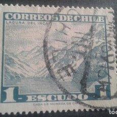 Sellos: CHILE,1968,LAGUNA DEL INCA,YVERT 323,SCOTT 329A,USADO,(LOTE AG). Lote 128348255