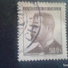 Sellos: CHILE,1966,GERMÁN RIESCO,YVERT 315,SCOTT 355,USADO,(LOTE AG). Lote 128348867
