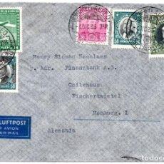 Sellos: CHILE, SOBRE, DE VALPARAISO A ALEMANIA, AÑO 1936. Lote 132555714