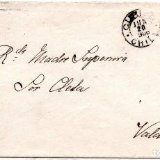 Sellos: CHILE, SOBRE DE CURICO A VALDIVIA, 1906. Lote 132558174