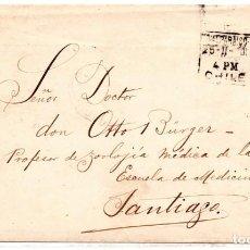 Sellos: CHILE, SOBRE DE VALPARAISO A SANTIAGO AÑO 1901, A ESCUELA DE MEDICINA. Lote 132562666
