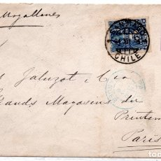 Sellos: CHILE, SOBRE A FRANCIA, VIA MAGALLANES, AÑO 1895. Lote 132563062