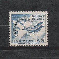 Sellos: LOTE 4 SELLOS SELLO AEREO CHILE. Lote 146528486