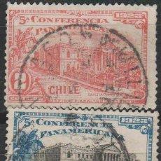 Sellos: LOTE 4 SELLOS CHILE AÑO 1923. Lote 146529574