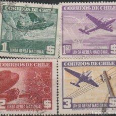 Sellos: LOTE 4 SELLOS CHILE AEREO. Lote 147480250