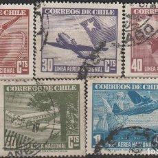 Sellos: LOTE 4 SELLOS CHILE AEREO. Lote 147480310