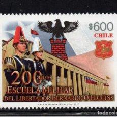 Sellos: CHILE 2114** - AÑO 2017 - BICENTENARIO DE LA ESCUELAMILITAR BERNARDO O`HIGGINS. Lote 147866510