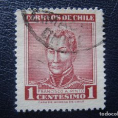 Sellos: CHILE,1960 GENERAL F.A.PINTO, YVERT 281. Lote 149685010