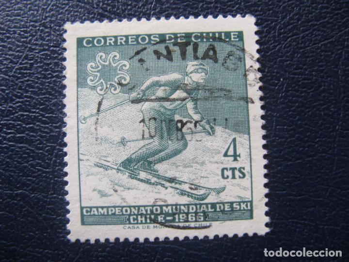 CHILE, 1965 CAMPEONATOS MUNDIALES DE SKI, YVERT 309 (Sellos - Extranjero - América - Chile)
