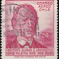 Sellos: 1959 - CHILE - CENTENARIO DEL INSTITUTO ALEMAN - YVERT PA 181. Lote 151479370