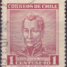 Sellos: 1960 - CHILE - CELEBRIDADES - FRANCISCO A. PINTO - YVERT 281. Lote 151521890
