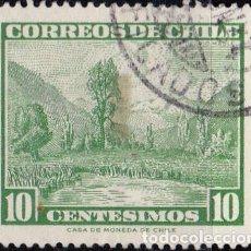 Sellos: 1961- CHILE - TURISMO - VALLE DEL RIO MAULE - YVERT 292. Lote 151525066