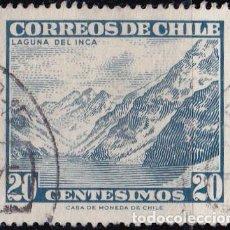 Sellos: 1961- CHILE - TURISMO - LAGUNA DEL INCA - YVERT 293. Lote 151525214