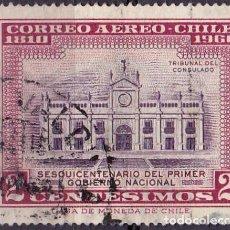 Sellos: 1962 - CHILE - 150º ANIVERSARIO PRIMER GOBIERNO NACIONAL - TRIBUNAL DEL CONSULADO - YVERT 212. Lote 151529110