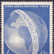 Sellos: 1963 - CHILE - HOMENAJE A J.F. KENNEDY - YVERT PA 217. Lote 151530546