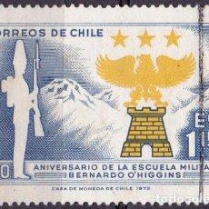 Sellos: 1972 - CHILE - 150º ANIVERSARIO ESCUELA MILITAR BERNARDO O'HIGGINS - YVERT 379. Lote 151572842