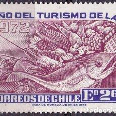 Sellos: 1972 - CHILE - AÑO DEL TURISMO DE LAS AMERICAS - YVERT 393. Lote 151573294