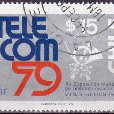 Sellos: 1979 - CHILE - 3ª EXPOSICION MUNDIAL DE TELECOMUNICACIONES GINEBRA - YVERT 528. Lote 151581730