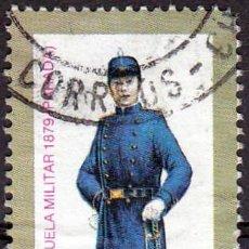 Sellos: 1981 - CHILE - UNIFORMES MILITARES DE 1879 - CADETE ESCUELA MILITAR DE PARADA - MICHEL 970. Lote 151624146
