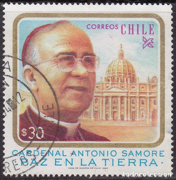 1983 - CHILE - CARDENAL ANTONIO SAMORE - MEDIADOR DEL CONFLICTO DE BEAGLE - YVERT 627 (Sellos - Extranjero - América - Chile)