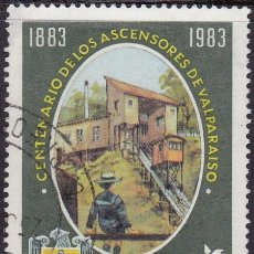 Sellos: 1983 - CHILE - CENTENARIO DE LOS ASCENSORES DE VALPARAISO - YVERT 628. Lote 151629194