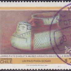 Sellos: 1983 - CHILE - JARRO PATO DIAGUITA - MUSEO ARQUEOLOGICO DE LA SERENA - MICHEL 1017. Lote 151631994