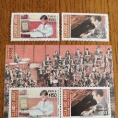 Sellos: CHILE ; AÑO 1992 CLAUDIO ARRUAU, MUSICA. Lote 154247604