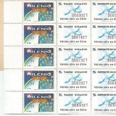 Sellos: CHILE.CARTERITA CON 5 SELLOS.. Lote 154957638