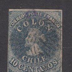 Sellos: CHILE - CORREO 1856 YVERT 6 O. Lote 156925825