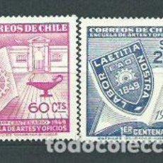 Sellos: CHILE - CORREO 1949 YVERT 225/6 ** MNH. Lote 156925965