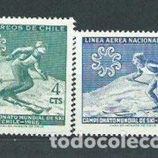 Sellos: CHILE - CORREO 1965 YVERT 309+AV.225 ** MNH DEPORTES. Lote 156926101