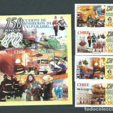 Sellos: CHILE - CORREO 2001 YVERT 1588/91+H.68 ** MNH. Lote 156927860