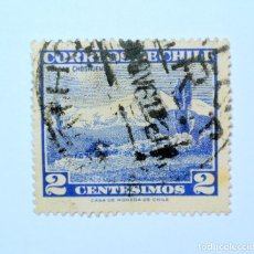 Sellos: SELLO POSTAL CHILE 1961 , 2 C. VOLCAN CHOSHUENCO, USADO. Lote 157138926