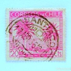 Sellos: SELLO POSTAL CHILE 1936 , 20 CTS, PALMERA CHILENA OCOA , 1536-1936 , USADO. Lote 157771554