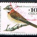 Sellos: CHILE Nº 1849, EL CHINGOLO, USADO. Lote 158266838