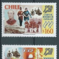 Sellos: SELLOS CHILE 2001 Y&T1588/91** 150 AÑOS DE BOMBEROS EN CHILE. Lote 176149988