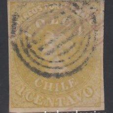 Sellos: CHILE, 1861-67 YVERT Nº 7, CRISTÓBAL COLÓN. Lote 176219515