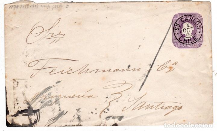 ENTERO POSTAL CIRCULADO CHILE 1892 (Sellos - Extranjero - América - Chile)