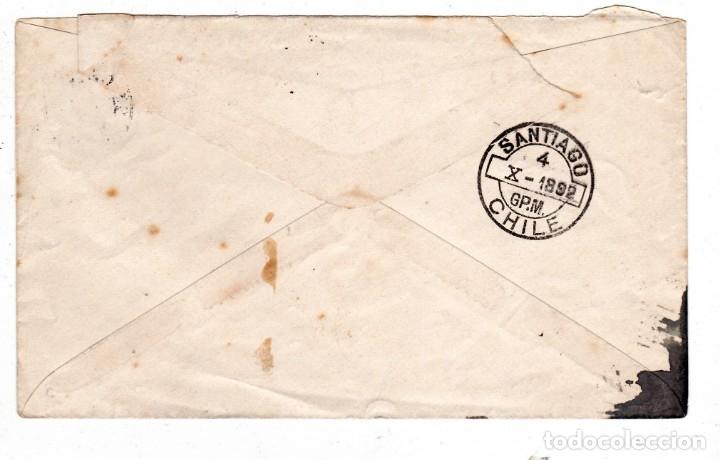 Sellos: ENTERO POSTAL CIRCULADO CHILE 1892 - Foto 2 - 176955150