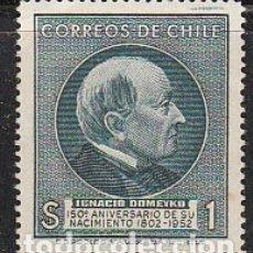 Sellos: CHILE Nº 490, 150 ANIVERSARIO DEL NACIMIENTO DE IGNACIO DOMEYKO, EDUCADOR Y MINERÓLOGO, NUEVO ***. Lote 178720708