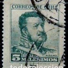 Sellos: CHILE SCOTT: 0323 (MANUEL BULNES PRIETO) USADO. Lote 181214120