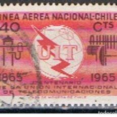 Sellos: (XIL 159) CHILE // YVERT 222 AEREO // 1965. Lote 182713872