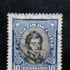 Sellos: CORREO DE CHILE, 10 CENTAVOS, O,HIGGINS, AÑO 1921. . Lote 184731266