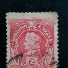 Sellos: CORREO DE CHILE, 2 CENTAVOS, COLON, AÑO 1902. . Lote 184799846