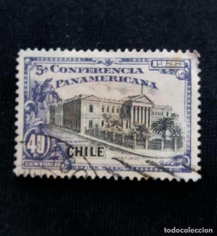 CORREO DE CHILE, 40 CENTAVOS, CONFER. PANAMERICANA, AÑO 1923. (Sellos - Extranjero - América - Chile)